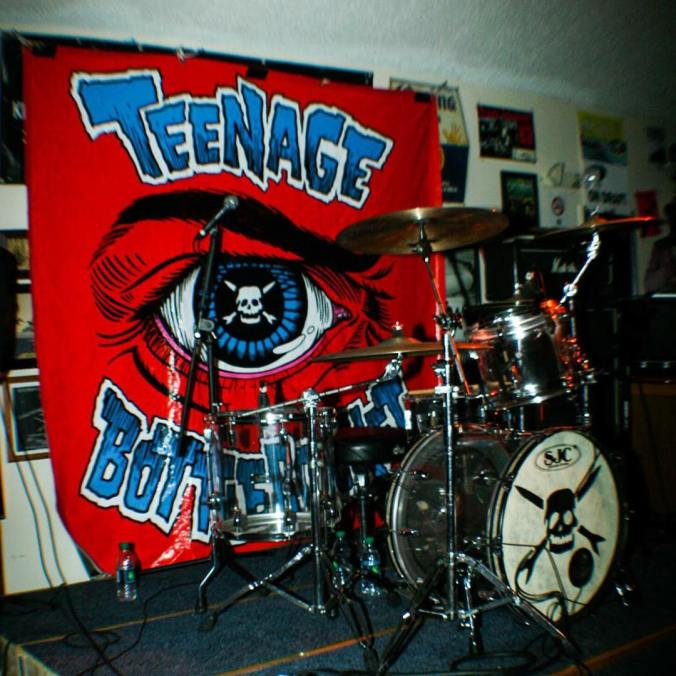 Brandon Carlisle's drum kit, SJC, Teenage Bottlerocket