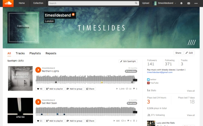 Timeslides - Soundcloud
