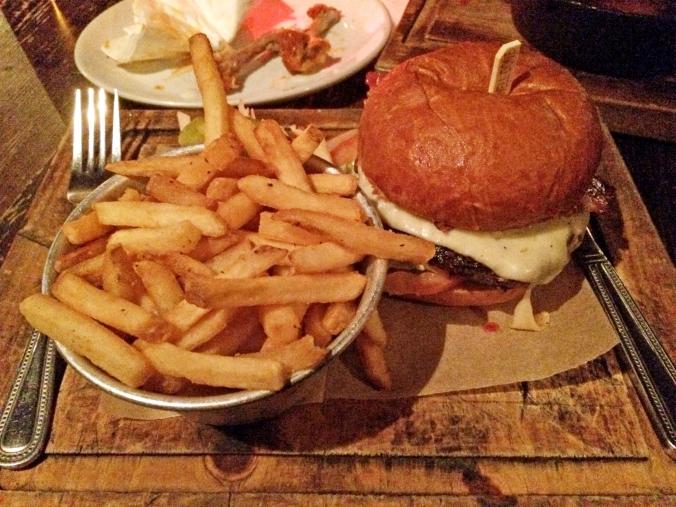 Blues kitchen bacon cheeseburger