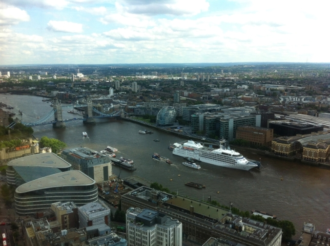 view of the thames from the sky garden roof terrace