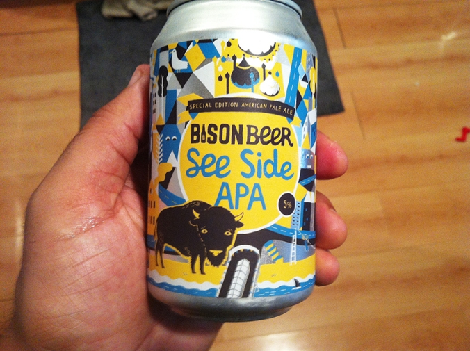 bison beer see side apa